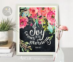 Printable Wall Art Instant Download inspirational quote Inspirational Artwork, Scripture Art, Bible Art, Bible Quotes, Mothers Day Drawings, Christian Facebook Cover, Painting Quotes, Quote Paintings, Christian Art