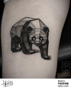 #Polygonal #Panda #bear #tattoo