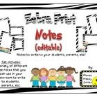 This set includes a variety of different size and style of notes/note cards that you can use in your classroom. They can be used with students, tea...