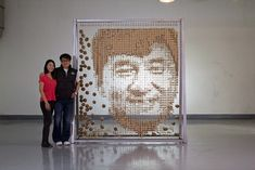 Portrait of Jackie Chan Made Out of 64,000 Chopsticks - My Modern Metropolis