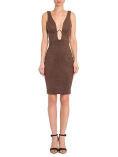 Vestido Midi Carmurça Aro Bojo - Iorane - Marrom - Shop2gether