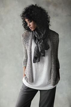 like the grey tones and whit t-shirt...not the scarf--I like E. Fisher