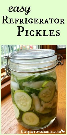 Have an abundance of cucumbers? These refrigerator pickles are a little bit sweet, a little bit tart and a lot easy!
