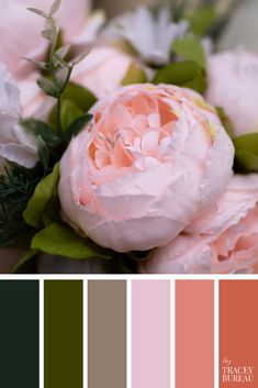 Pink & Green Florals | Color Palette | Color Theme | Color Scheme | Color Palette Inspiration