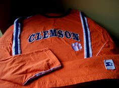 Vintage Clemson University, Starter Jersey, Pullover, Sewn On Details, Size XXLarge, NCAA, Collegiate Jersey, Go Tigers, Retro College Gear by BrindleDogVintage on Etsy
