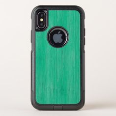 Sea Green Bamboo Wood Grain Look OtterBox Commuter iPhone X Case - wood gifts ideas diy cyo natural