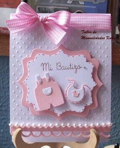 38 Ideas For Baby Cards Handmade Girl Diy Layout Baby Girl Cards, New Baby Cards, Baby Scrapbook, Scrapbook Cards, Handgemachtes Baby, Diy Baby, Stampin Up Karten, Baptism Cards, Baby Shower Invitaciones