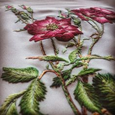 Haft#handmade#rekodzielo#embroidery#flower#rose#dzikaRóża
