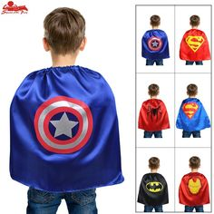 SPECIAL L 20* baby girls costume cape superhero party birthday dress up outfit  batman costume cape Christmas gifts baby toys