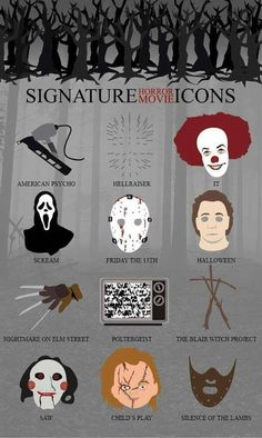 Signature Horror Movie Icons - for Mis if it came as a poster  My lovely new poster...It shall go on my thinking wall...if i only had a thinking wall......
