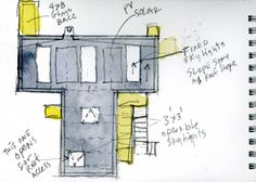 T Space / Steven Holl Architects watercolor 02 – ArchDaily