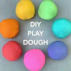 Diy Crafts For Girls, Diy Crafts To Do, Diy For Kids, Slime Craft, Diy Slime, Playdough Diy, Playdough Recipe Videos, Home Made Playdough Recipe, Best Homemade Playdough Recipe