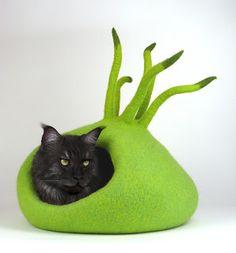 Felt: Katze und Filzkunst