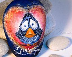 Stone Painting, Rock Art, Koi, I Shop, Etsy, Home Decor, Rocks, Painted Rocks, Painting On Stones