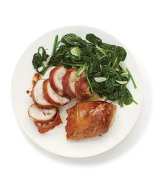 Butter, garlic, and salty prosciutto lend a decadent touch to boneless chicken thighs.