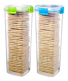 This Green U0026 Blue Large Cracker Container   Set Of Two Is Perfect!  #zulilyfinds
