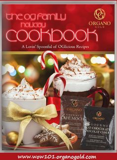 #OrganoGold #FamilyHolidayCookbook! Free 38 page download! So many delicious recipes! http://alexandramcallister.com/organo-gold-coffee-recipes/ To join our exclusive #CoffeeConnoisseurClub, click here: www.wow101.organogold.com #alexandrawow101