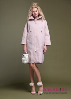 7f7e35fa9bb6 Buy online. NAUMI 028NS180001 ROSA. Lightweight medium-length coat,model  oversize,quilted cloth,high collar stand,wide sleeves 7 8 with shoulder  down,zipper ...