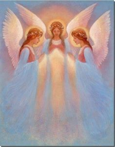 "The very presence of an angel is a communication. Even when an angel crosses our path in silence, God has said to us, 'I am here. I am present in your life'."" Tobias Palmer  Shared with love  Carole ♥"