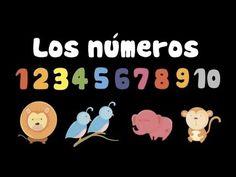 Aprende los números del 1 al 10 con los animales en este video. Números en español.