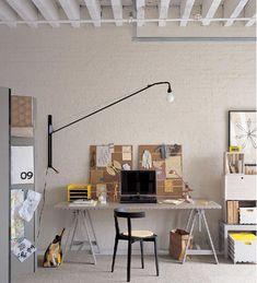 Modern Home Office Inspiration · Workspace Design · Creative Studio · Artist Desk Workspace Inspiration, Interior Inspiration, Inspiration Boards, Design Inspiration, Home Office Design, House Design, Office Designs, Interior Architecture, Interior Design