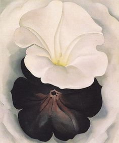 Georgia O'Keeffe Black Petunia and White Morning Glory 1926 2