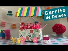 Carreta con Abatelenguas :: Mesa de Dulces :: Chuladas Creativas - YouTube Cute Crafts, Crafts To Make, Crafts For Kids, Bakery Packaging, Candy Cart, Candy Buffet, Art Festival, Diy Room Decor, Projects To Try