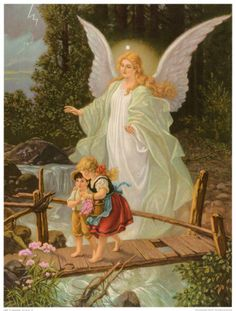 Guardian Angel. The image above the bed of my childhood.    Angel of God,  My guardian dear,  To whom His love,  Commits me here.  Ever this day,  Be at my side,  To light and guard,  To rule and guide.  Amen.