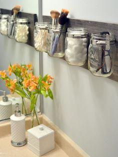 Image for Gorgeous and Practical Mason Jar Storage