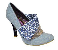 Irregular Choice Flick Flack Blue Tweed (G29) 3614 -3CD Ladies Heels All Sizes | eBay