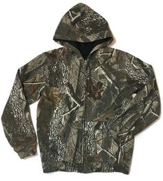 Remington Camouflage Sweatshirt Realtree Camouflage Reversible Hooded Youth XL | eBay