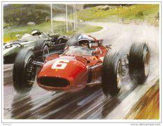 Belgian GP 1966 - John Surtees (Ferrari) leads from Jochen Rindt ...