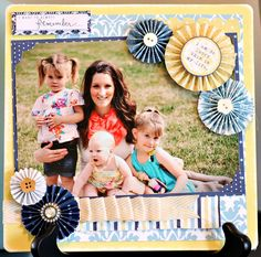 #Scrapbook layout made with Teresa Collins Everyday Moments collection