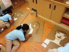 Art lessons for kids grade art lesson, third grade art, grade cardbo 3rd Grade Art Lesson, Third Grade Art, Grade 3, Art Lessons For Kids, Art Lessons Elementary, Art For Kids, Ecole Art, Cardboard Art, Middle School Art