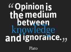 #Opinion #Ignorance #Plato