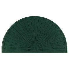 "Andersen Company Waterhog Eco Grand Premier Entrance Mat - Half Oval (6' W x 3.3' L) . $120.99. Pile Height: 3/8"". Face: Molded reinforced textile. Yarn: Solution-dyed polypropylene. Type: Indoor/outdoor use. Backing: Rubber. Andersen's Waterhog Grand Premier Entrance Mat has a beautiful and unique fan design that is great at removing dirt and water from the soles of shoes. The rubber-reinforced nubs hold their shape and won't flatten, even in high-traffic areas. In..."
