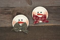 Hand Painted Snowman Pin -or- Ornament. $4.00, via Etsy.