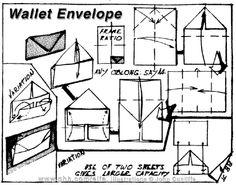 Envelope and Letter Folding: Wallet Envelope Origami Envelope, Fold Envelope, Origami Books, Letter Folding, Envelope Lettering, Origami Ideas, Hand Writing, Bag Patterns, Stamps