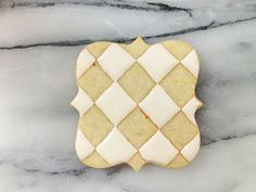 How to pipe quilted cookies - by Sweetambs