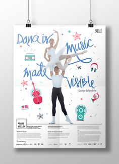 Poster design for Ballet for Young People. #neon #poster #ballet #MiamiCityBallet #design #graphicdesign