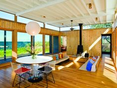 Kauth House w/conversation pit  Fair Harbor, NY via Architizer