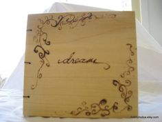 Wooden Poplar dream journal by hobbyholica on Etsy, $30.00