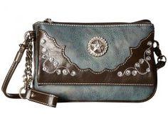 M&F Western Meadow Crossbody (Blue) Cross Body Handbags