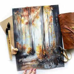 Wonderfull painting by the artist Kustova Anastasia Colorful Art, Art Painting, Drawings, Nature Art, Painting, Art, Canvas Art, Canvas Painting, Watercolor Illustration