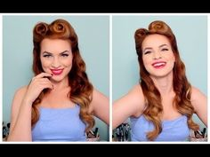 ▶ 1940's / 50's Pinup Hair and Makeup ~ Super duper cute, and if my roller set works out then I won't have to use a curling iron.