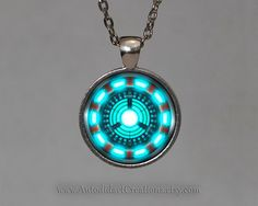 Arc Reactor Iron Man Jewelry, arc reactor jewelry, The Avengers Jewelry, ironman necklace, Tony Stark Necklace, Thor, Hulk, Captain America. www.autodidactcreations.etsy.com