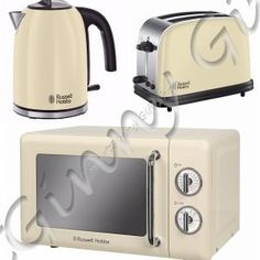 russell hobbs retro cream manual microwave 17l legacy kettle 4 slot toaster retro kitchen. Black Bedroom Furniture Sets. Home Design Ideas