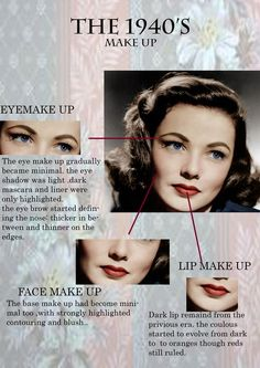 all about make up.- all about make up. all about make up.- all about make up. Vintage Makeup Looks, Retro Makeup, Look Vintage, Vintage Beauty, 1930s Makeup, Rockabilly Makeup, Vintage Wedding Makeup, 1940s Wedding, Wedding Updo