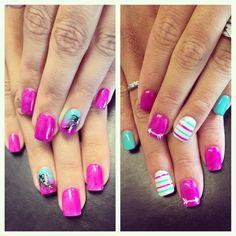 "Nail Art / Nail Designs ❤️ on Instagram: ""BFFs love fuschia #summernails #summertrends #thehautespot #funkynails #trendynails #trendsetter #feathers #arrows #nails #nailart #nailgasm #nailporn #nailideas #nailtrends #nailstagram #naildesigns #nailartjunkie #nails2inspire #nailsofinstagram #atlantanailsalon #atlantanailart"""