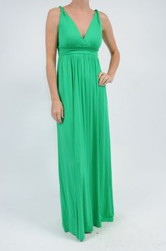 Green Twisted Strap Dress $72 http://www.shopmapel.com/products.html?productId=27484